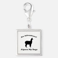 An Adventure? Alpaca My Bags Silver Square Charm