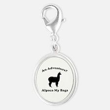 An Adventure? Alpaca My Bags Silver Oval Charm