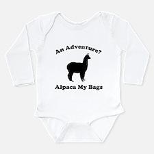 An Adventure? Alpaca My Bags Long Sleeve Infant Bo