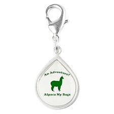 An Adventure? Alpaca My Bags Silver Teardrop Charm
