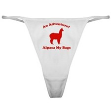 An Adventure? Alpaca My Bags Classic Thong