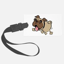 Leaping Pug Luggage Tag