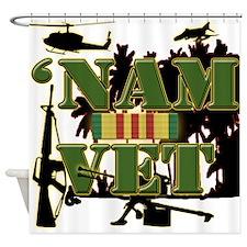 Vietnam Veteran Ribbon Shower Curtain