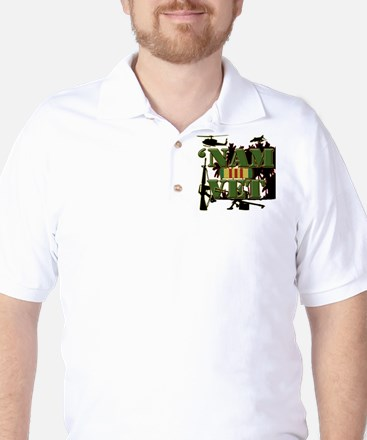 Vietnam Veteran Ribbon Golf Shirt
