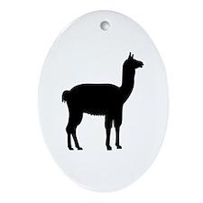 Llama Ornament (Oval)