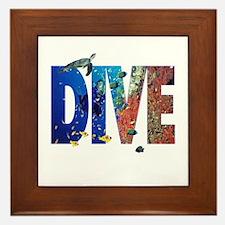 Scuba Dive! Framed Tile