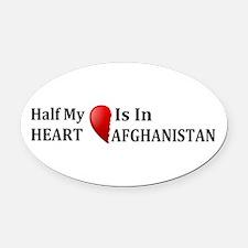 Afghanistan Oval Car Magnet