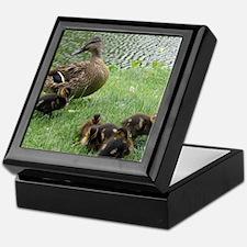 Duck mom and Ducklings Keepsake Box