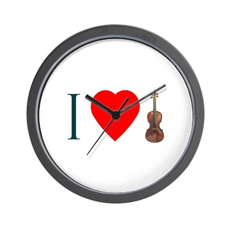 I Love Violin Wall Clock