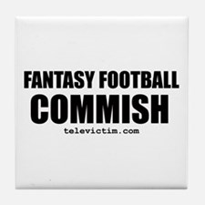 """COMMISH"" Tile Coaster"