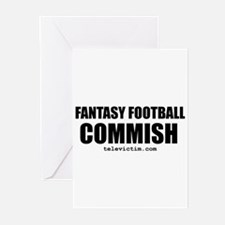 """COMMISH"" Greeting Cards (Pk of 10)"