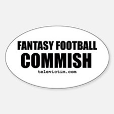 """COMMISH"" Oval Decal"