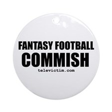 """COMMISH"" Ornament (Round)"