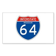 Interstate 64 - MO Rectangle Decal