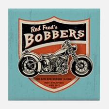 Red Fred's Bobbers Tile Coaster