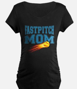 fastpitch-mom Maternity T-Shirt