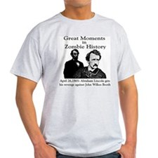 Great Moments in Zombie History Ash Grey T-Shirt