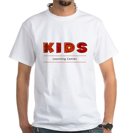 Kids Learning Center Logo3 Adults White T-Shirt