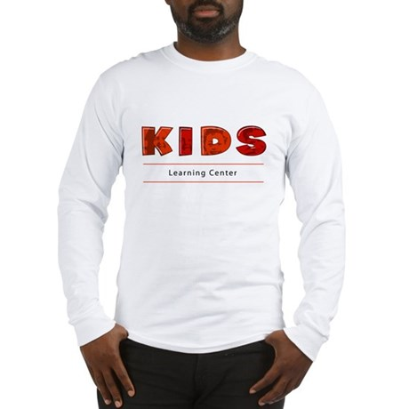 Kids Learning Center Logo3 Adults Long Sleeve T-Sh