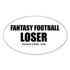 """LOSER"" Oval Decal"