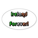 Ireland Forever Oval Sticker