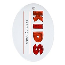 Kids Learning Center Logo3 Kids Oval Ornament