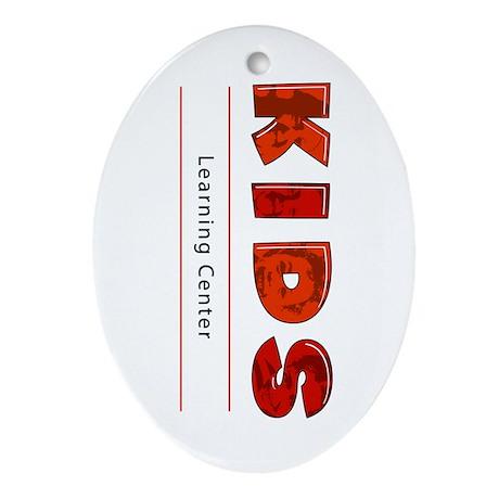 Kids Learning Center Logo3 Kids Oval Ornament