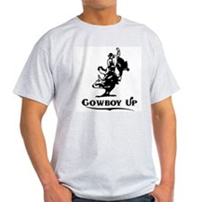 Cowboy Up Ash Grey T-Shirt