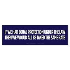 Equal Protection Bumper Bumper Sticker