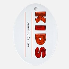 Kids Learning Center Logo3 Stuff Oval Ornament