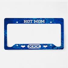 Hot Mom Blue License Plate Holder