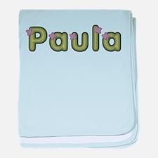 Paula Spring Green baby blanket