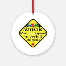 Autistic Ornament (Round)