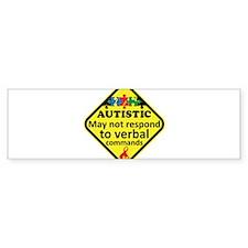 Autistic Bumper Bumper Sticker