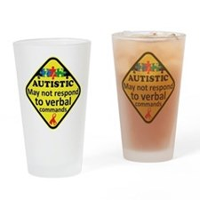 Autistic Drinking Glass