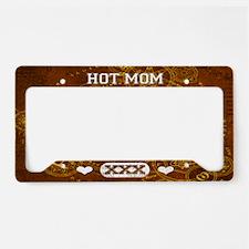 Hot Mom Brown License Plate Holder