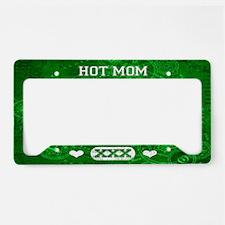 Hot Mom Green License Plate Holder