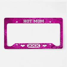 Hot Mom Pink License Plate Holder