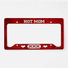 Hot Mom Red License Plate Holder