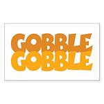 Gobble Gobble Rectangle Sticker
