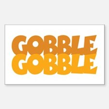 Gobble Gobble Rectangle Decal