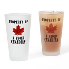 A Proud Canadian Drinking Glass