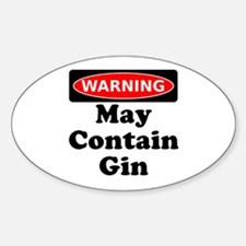 Warning May Contain Gin Decal