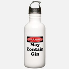 Warning May Contain Gin Water Bottle