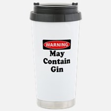 Warning May Contain Gin Travel Mug