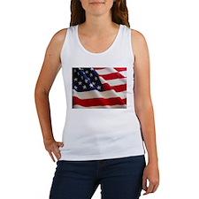 American Flag - Patriotic USA Women's Tank Top