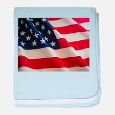 American Flag - Patriotic USA baby blanket