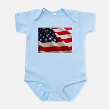 American Flag - Patriotic USA Infant Bodysuit