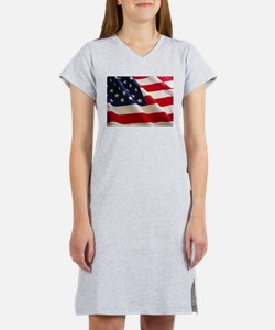 American Flag - Patriotic USA Women's Nightshirt