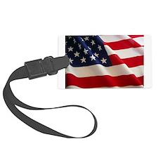 American Flag - Patriotic USA Luggage Tag